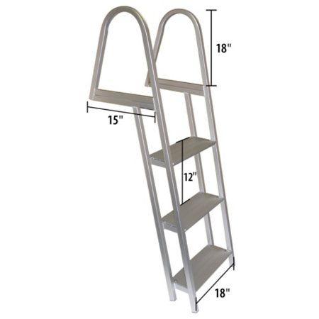 Dockmate 3 Step Stationary Dock Ladder Overton S Dock Ladder Lakefront Living Ladder