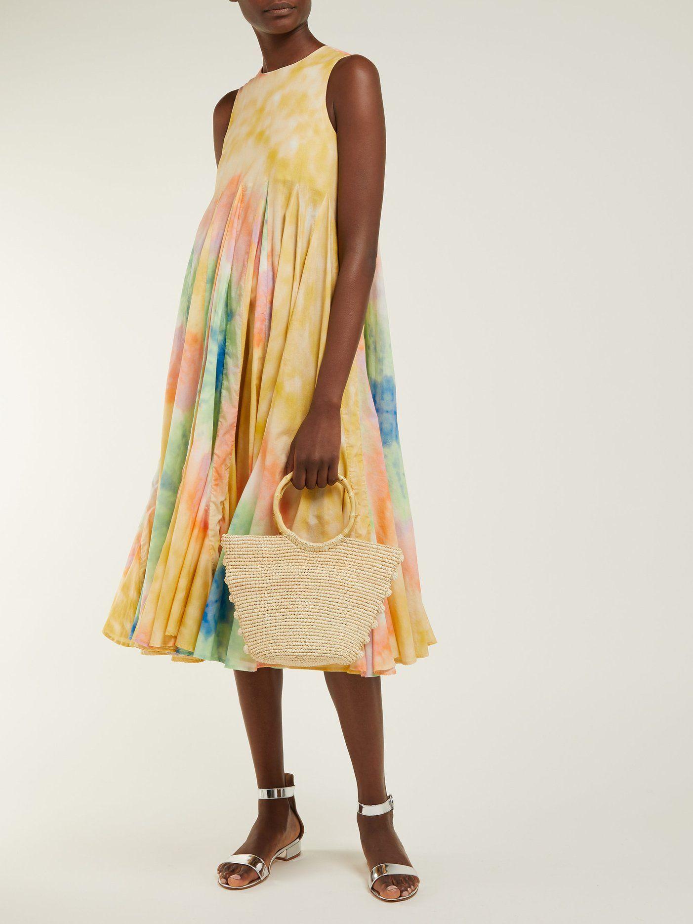 7307047a745 Josephine sleeveless tie-dye cotton midi dress