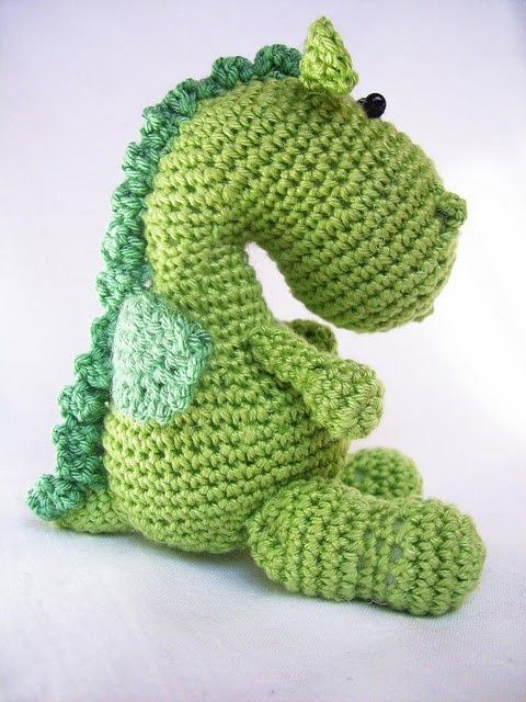 Could also be a dinosaur ??? Dragon Amigurumi - Free Crochet Pattern ...