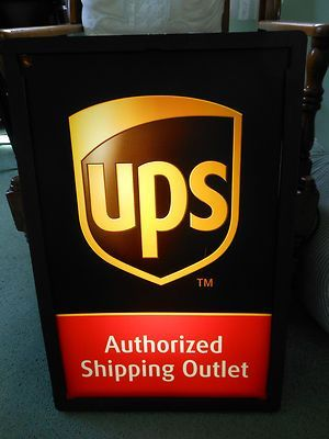 UPS Authorized Shipping Outlet light up sign