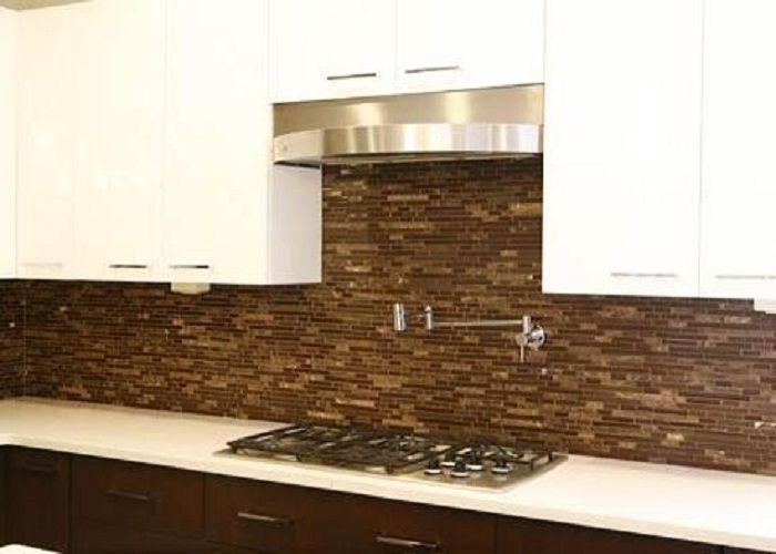Kitchen Backsplash Edge cool style brown glass tile kitchen backsplash edge -- http