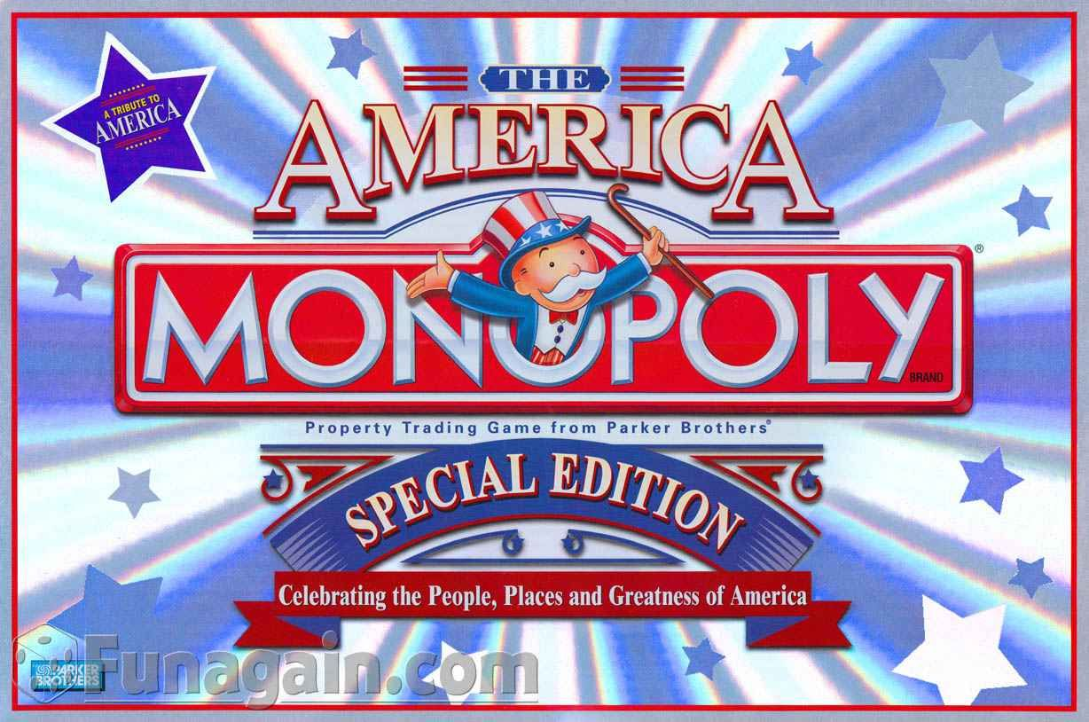 America Monopoly-Special Edition | Monopoly | Pinterest | Monopoly