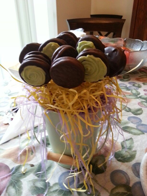 Mint Chocolate Dipped Oreo Pops Strawberries Pinterest