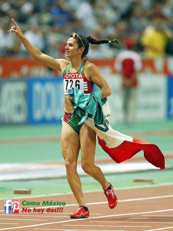 Ana Guevara. Medalla de oro en los 400 metros planos dentro del ...