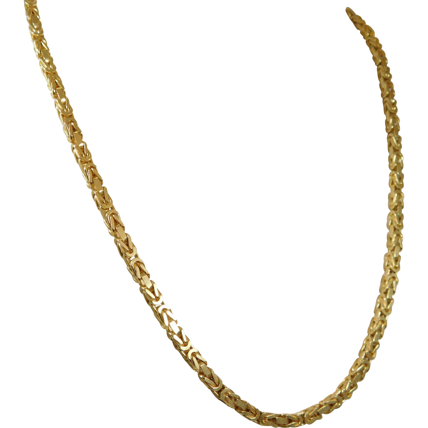 byzantine inch gold pin karat yellow chain chains mm