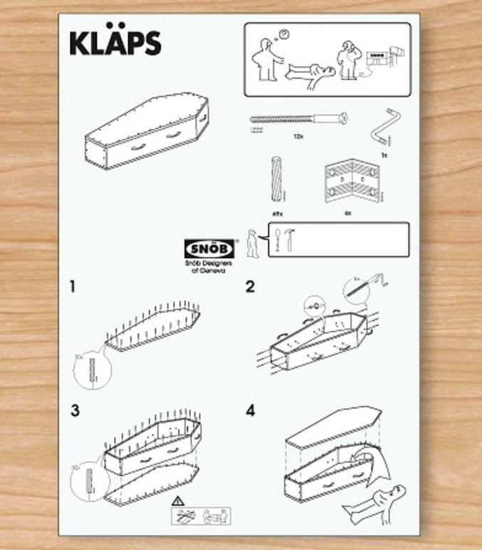Cercueil en kit | Images drôles, Drôle, Humour