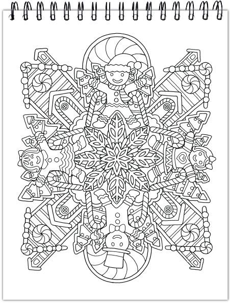 A Colorful Christmas Illustrated By Hasby Mubarok Christmas Coloring Pages Coloring Pages Coloring Books