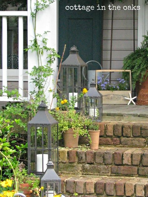 Outdoor Decorating Ideas Lanterns Summer Front Porches House