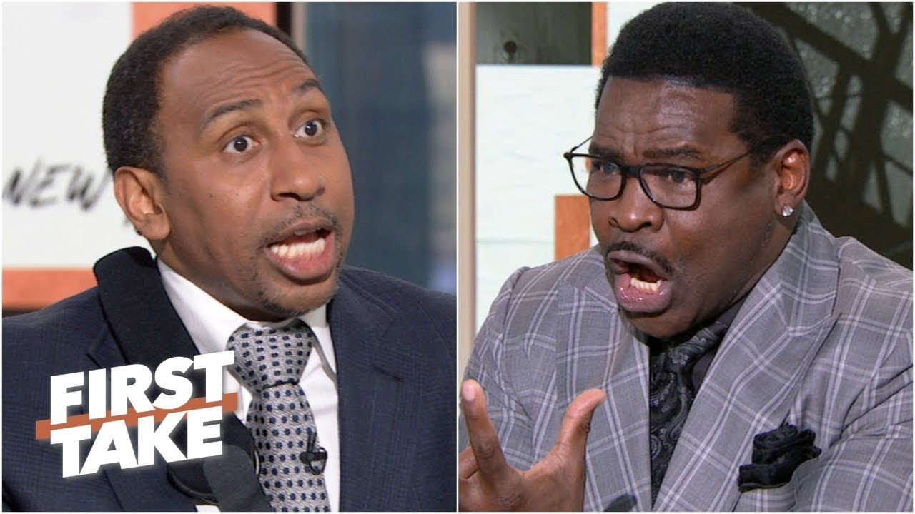 Stephen A. and Michael Irvin get heated about Zeke's
