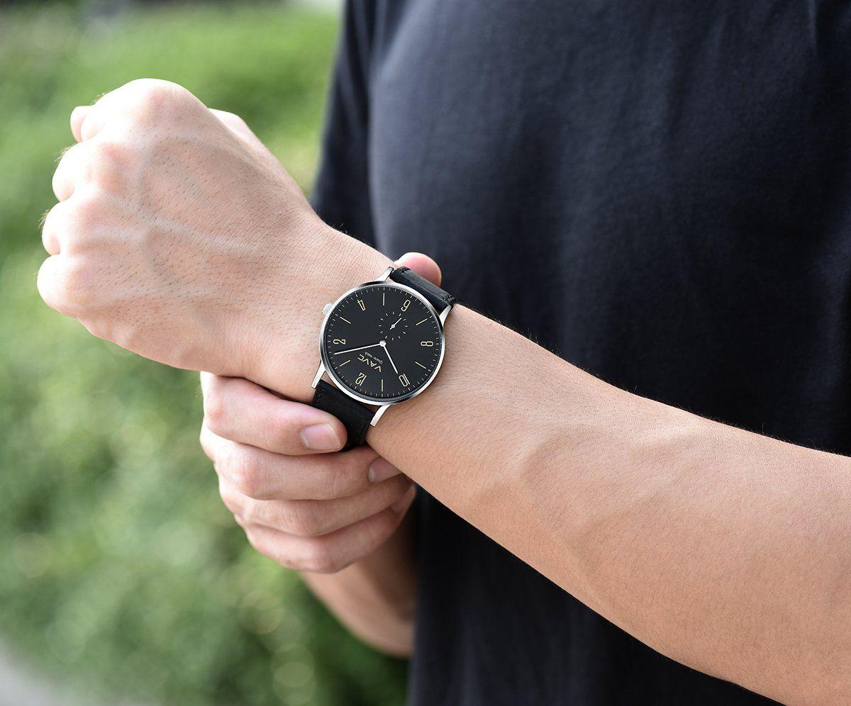 Vavc Mens Black Leather Band Casual Simple Dress Quartz Wrist Watch With Black Dial Details Can Be Found By Cl Leather Band Mens Black Leather Simple Dresses [ 996 x 1200 Pixel ]