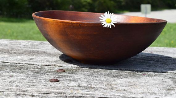 Large 16 Maple Bowl Handturned From Reclaimed by AdzeWoodcraft
