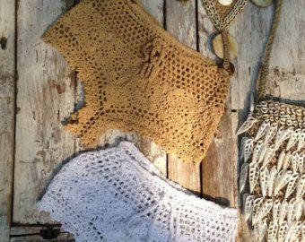 Original crochet playa corto pantalones cortos de por Spillija