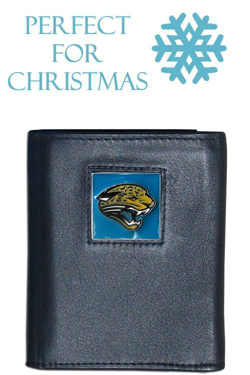 Cheap Jacksonville Jaguars NFL Leather and Nylon Trifold Wallet