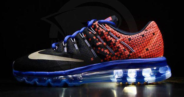 premium selection 15f4d 6b024 Nike Air Max 2016 Black Orange-Blue
