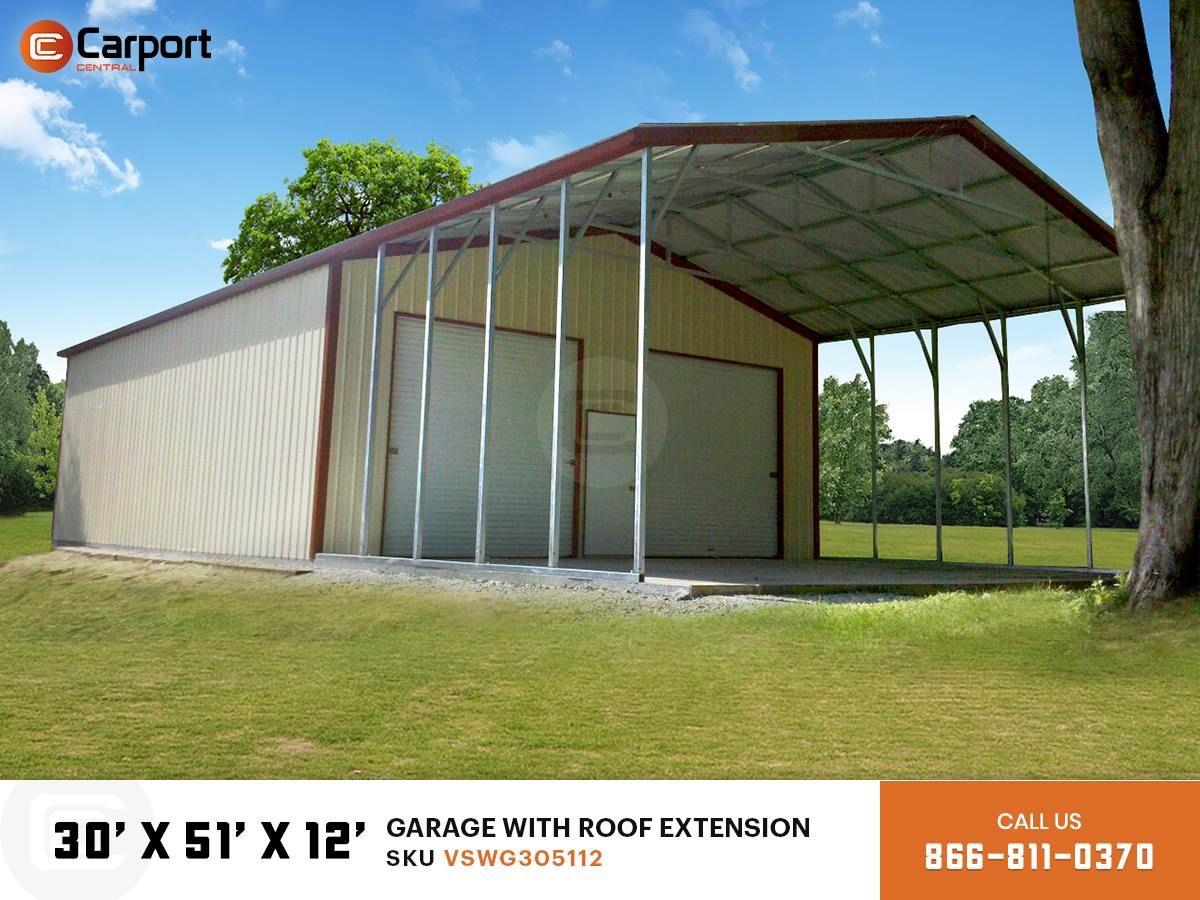 30 x 51 Garage in 2020 Roof extension, Carport