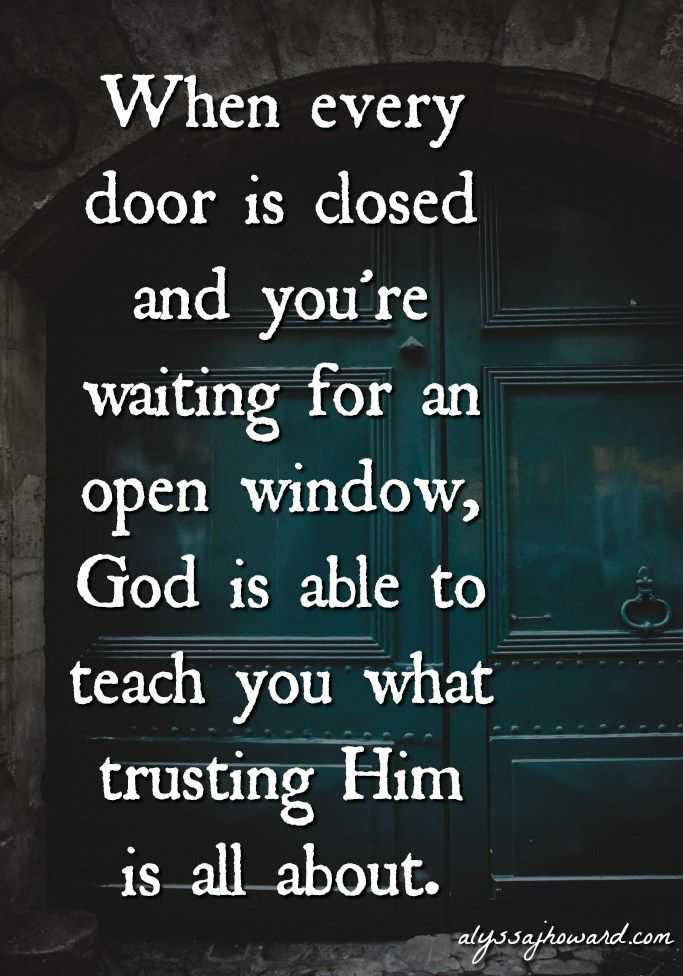 When God Closes A Door And You Ve Lost Your Hope