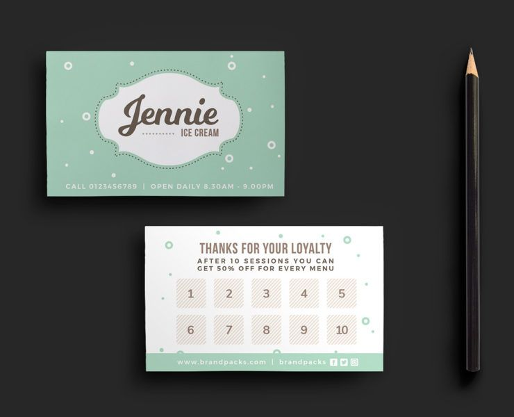 Free Loyalty Card Templates Psd Ai Vector Brandpacks Loyalty Card Template Business Card Inspiration Letterpress Business Cards