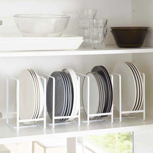 Range-assiettes en métal blanc - ON RANGE TOUT