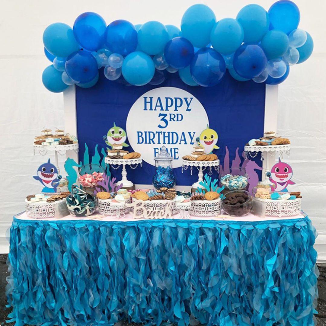 Baby Shark 3rd Birthday Party Birthday Parties Shark Theme Birthday Blue Birthday Parties