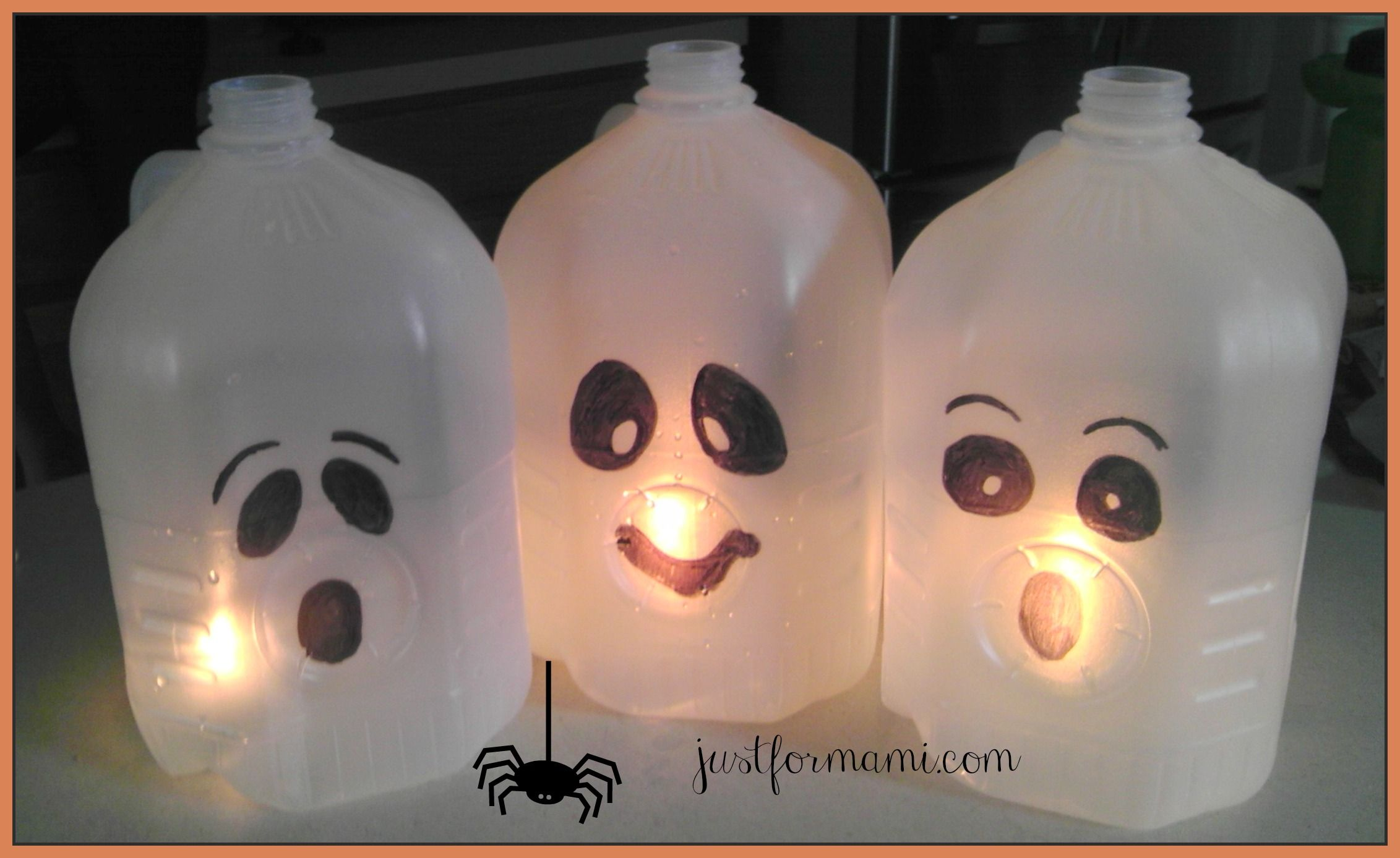Decoraciones De Halloween Faciles Fantasmas De Bote De Leche Para Decorar En Halloween