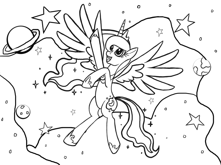 Perfect Princess Luna Coloring Page By KamiraCeeker On DeviantArt