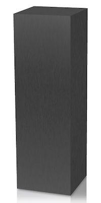 Brushed Black Aluminum Laminate Pedestal Brushed Black Pedestal Laminate