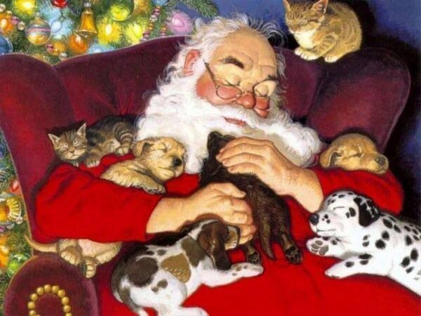 Pin By Peace After Grief On Everything Christmas Animated Christmas Christmas Paintings Christmas Animals