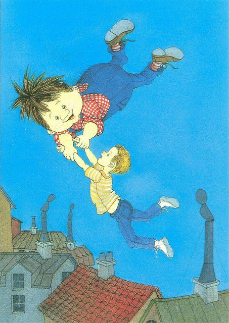 Karlsson On The Roof Astrid Lindgren By Ilon Wikland Illustration Bokillustration Barnbocker