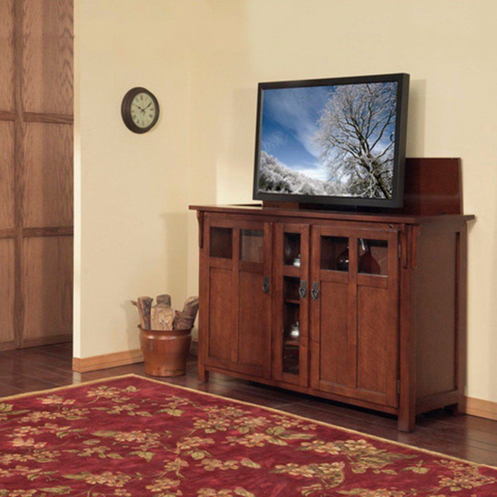 Mission Arts And Crafts Style Pop Up Tv Cabinet With Built In Whisperlift Pro Tv Lift Beautiful Antique Look Pop Up Tv Cabinet Tv Lift Cabinet Swivel Tv Stand