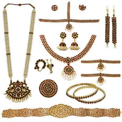 Bharatanatyam Dance Jewelry at www.india4you.com. Bharatnaytam dance jewelry online USA