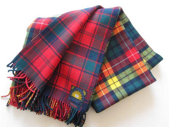 Australian Retsol Rugs Pure Wool Plaid Tartan By