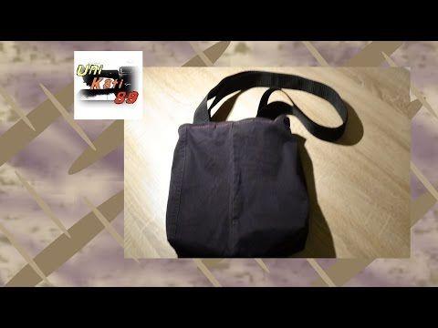 Handtasche Nisha Tasche nähen Anleitung DIY Upcycling inkl. Schnittmuster #UniKati89 - YouTube