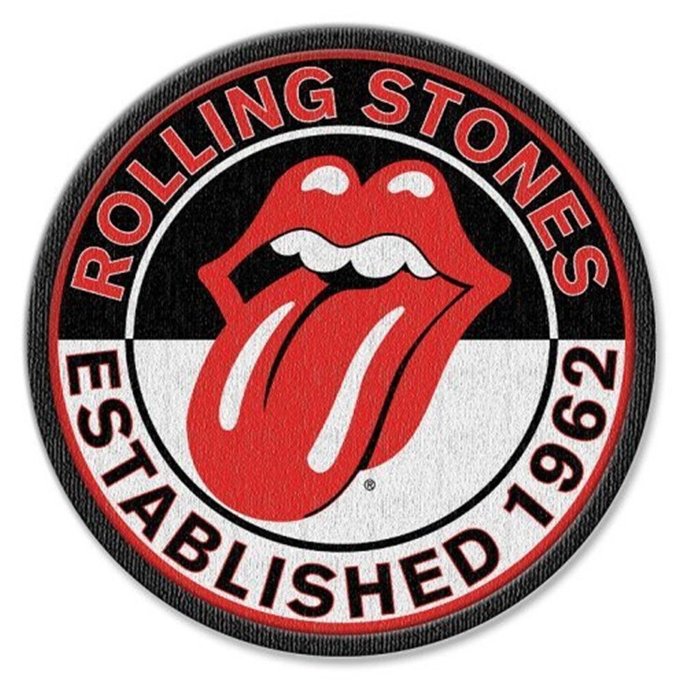 Embroidered Rolling Stone Tongue logo Iron-on //Sew on  Patch//Logo