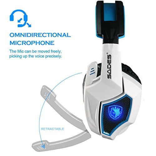 Sades Spirit Wolf 7.1 Surround Stereo Sound USB Gaming Headset with Microphone