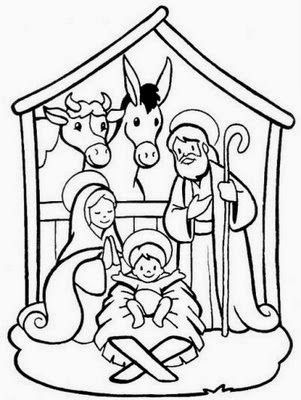 desenho de presepio de natal para pintar | good ideia | Pinterest ...