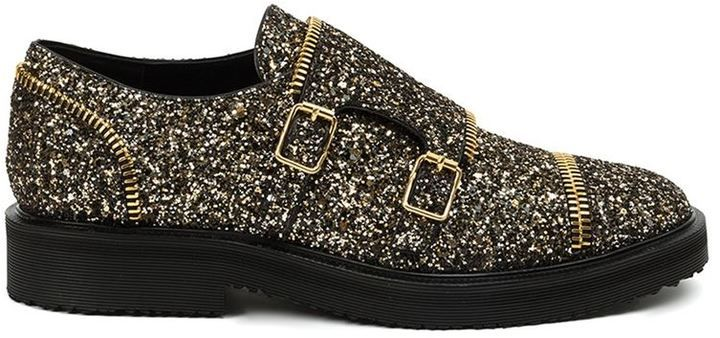 Giuseppe Zanotti Design glitter buckled shoes