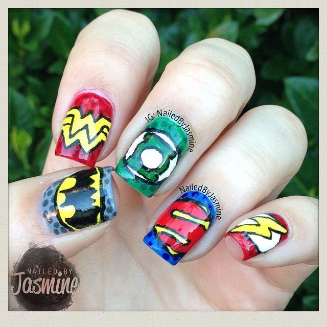 NailedbyJasmine Justice League nail art #Instagram | Character ...