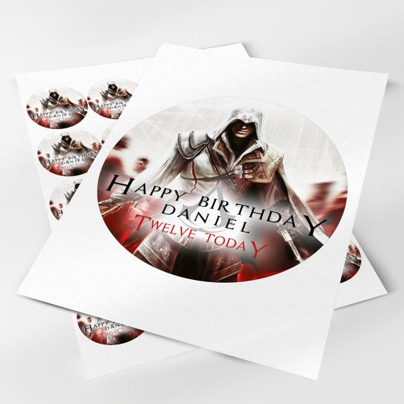 Cake Design Assassin S Creed : Assassins Creed Cake Topper 7.5 & 20x5cm by ...