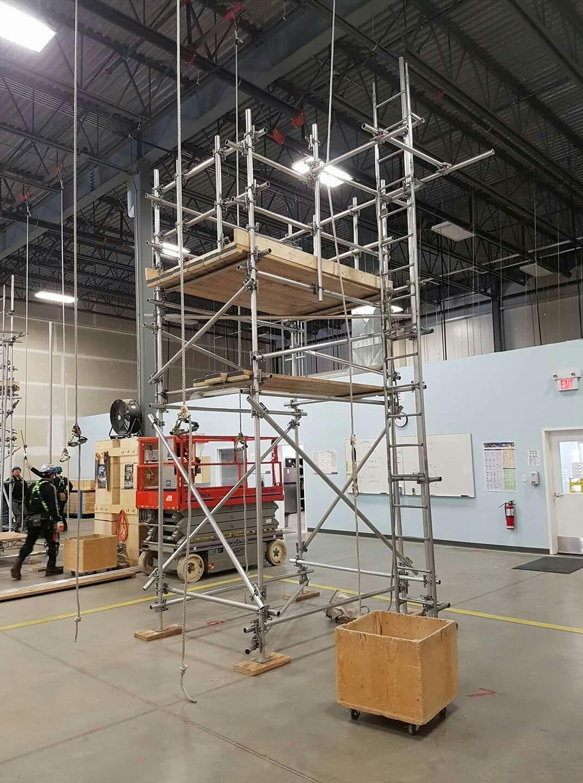 Level 2 Professional Scaffolder training build. Alberta