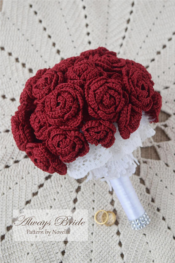 Pattern Crochet Wedding Flower Bouquet Pattern And Tutorial Bridal
