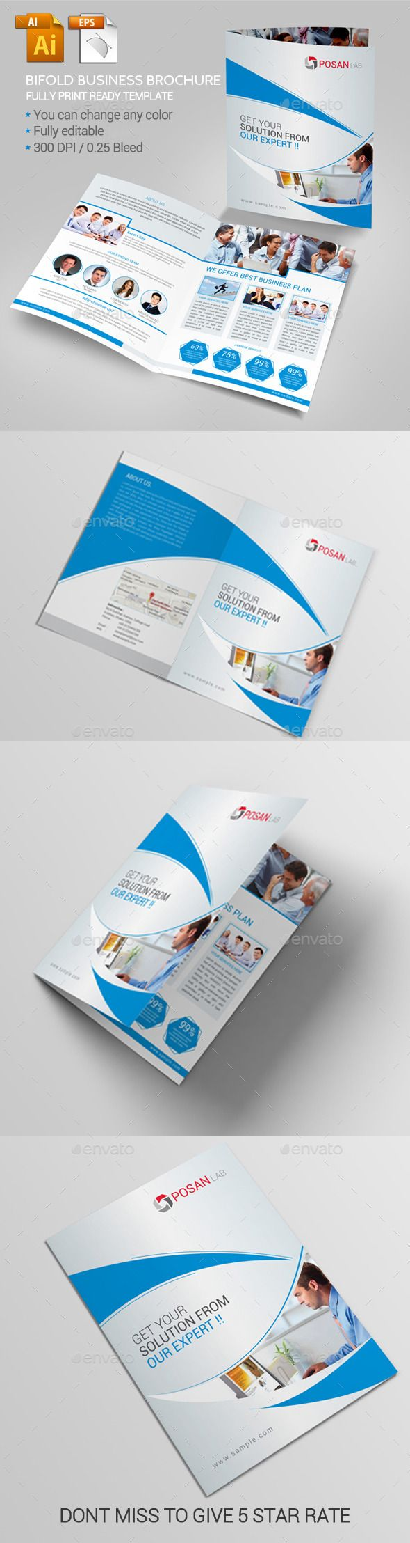 bifold business brochure design template brochure download httpgraphicrivernet