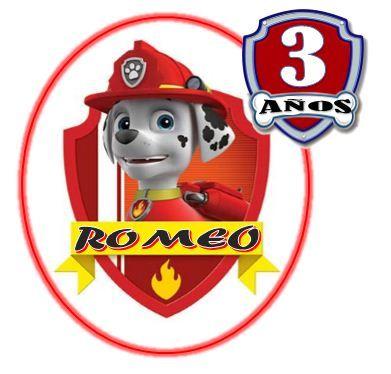 Tarjetita par el cumple de Romeo