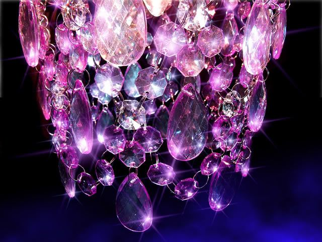 Image detail for -Amethyst Purple & Clear Crystal Effect Pendant Chandelier /Light Shade ...