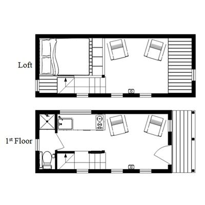the mcg tiny house with staircase loft photos video and plans photo - Modern Tiny House Plans