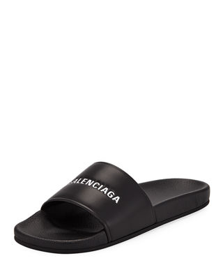 fcc477058 Balenciaga Embossed Logo Pool Slide Sandal in 2019 | Products ...