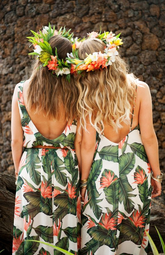 Vestidos para las damas de honor | Boda Tropical | Pinterest | La ...