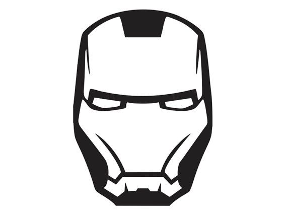Iron Man - Face Mask 2 - Vinyl Decal - SUP-ML4-4 via Etsy ...