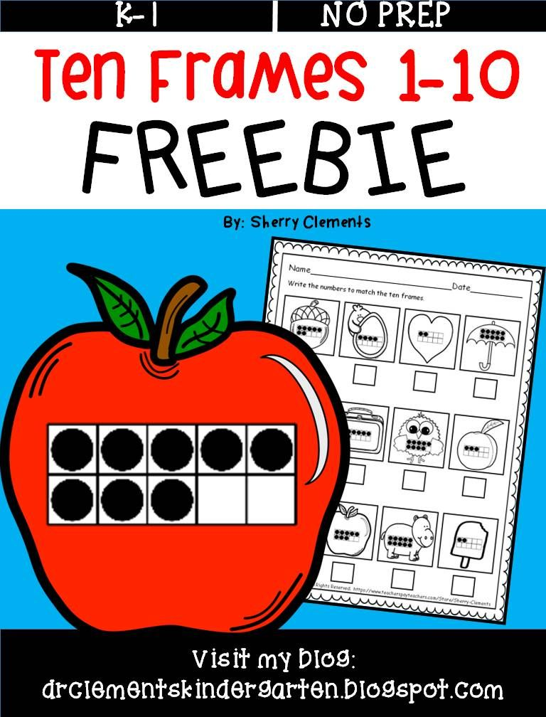 FREEBIE - Ten Frames 1-10 - Students write the number to match the ...