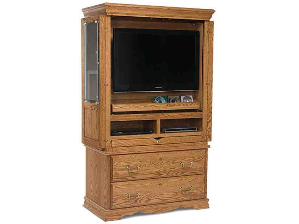 Flat Screen TV Armoire with Doors  TV Armoire  Tv armoire Armoire Oak bedroom furniture