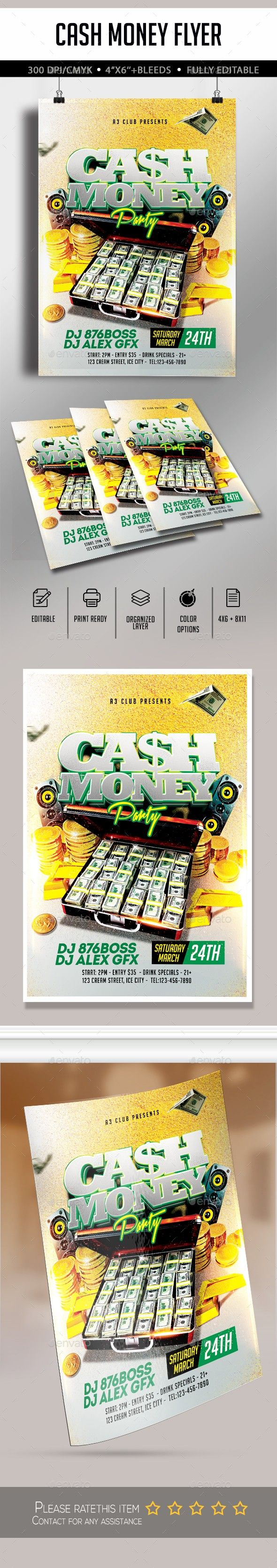 American Arrow3000 Business Cash Money Coins Commercial Elite Floss Flyer Template Gold Income Tax Psd